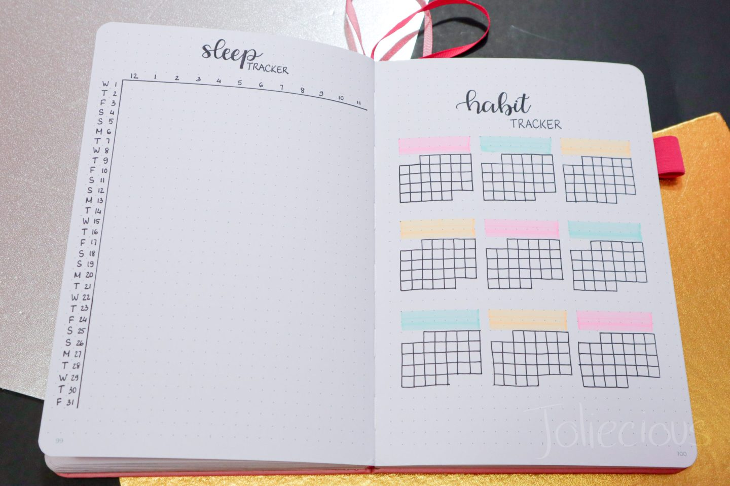 january 2020 bullet journal setup