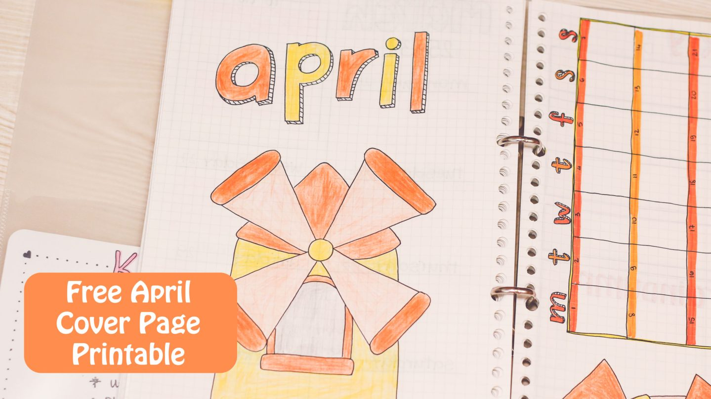 April Bullet Journal Cover Page & Theme Ideas