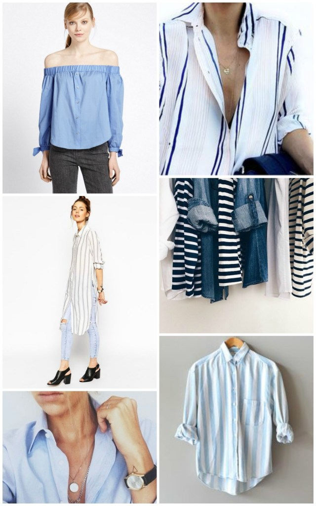 stripe shirt collage