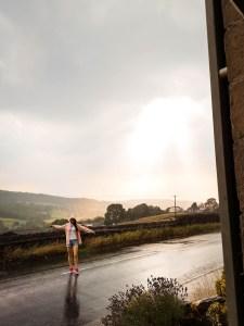 Rainstorm in PAtely Bridge Yorkshire