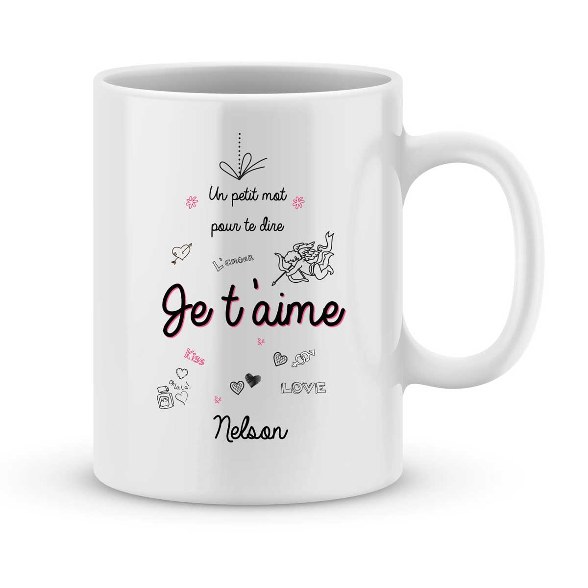 mug personnalise avec un prenom un petit mot