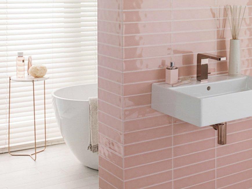 Comment Decorer Une Salle De Bain Rose Poudre Joli Place