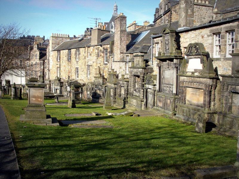 château et cimetières Edimbourg
