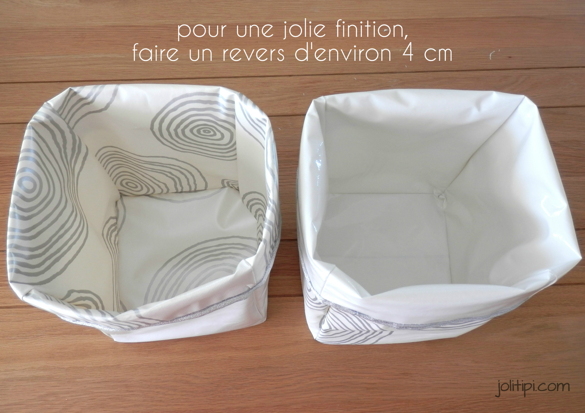 diy les paniers de rangement en tissu. Black Bedroom Furniture Sets. Home Design Ideas