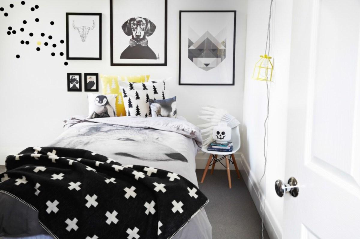 Chambre Noir Blanc Et Or noir et blanc s'invitent dans la chambre d'enfant - joli tipi
