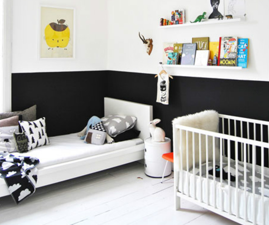 noir et blanc s 39 invitent dans la chambre d 39 enfant joli tipi. Black Bedroom Furniture Sets. Home Design Ideas