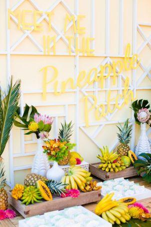 inspiration tropicale jaune stylemepretty