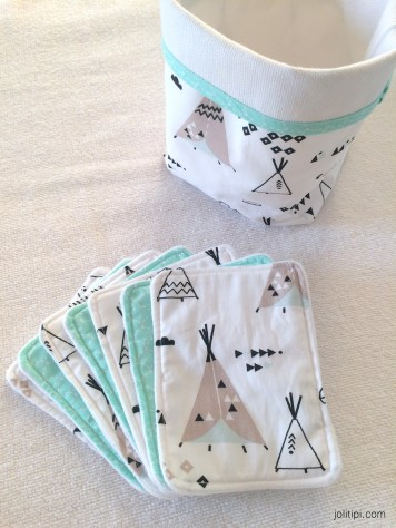 Lingettes collection Tipi Mint - Joli Tipi (1)