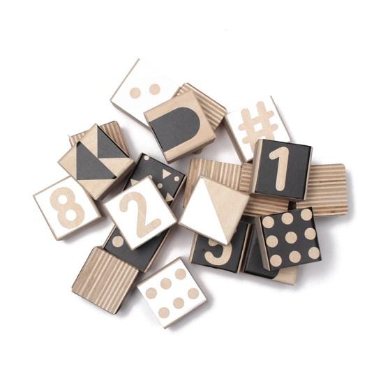 cubes de jeu bois noir Gautier studio