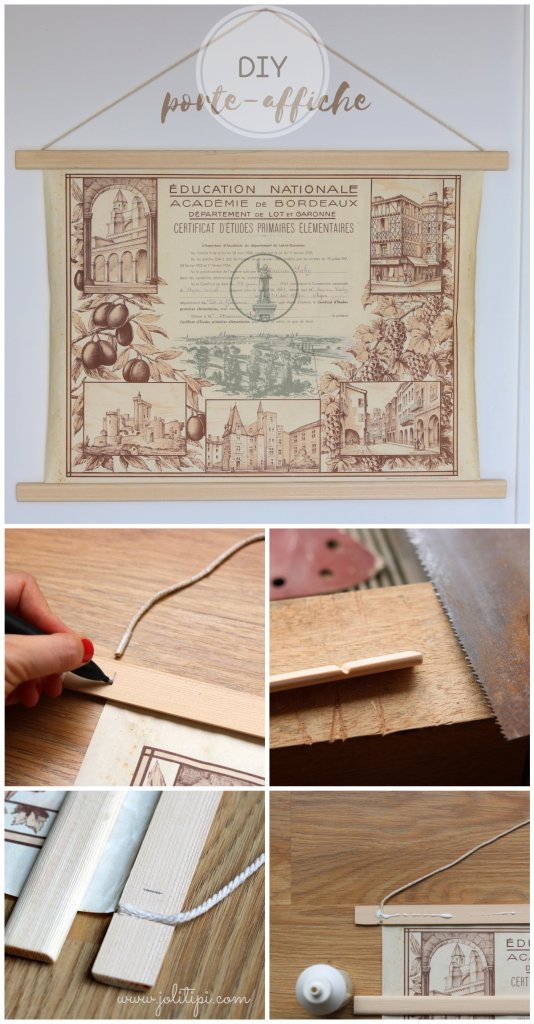 tuto porte-affiche en bois étape par étape