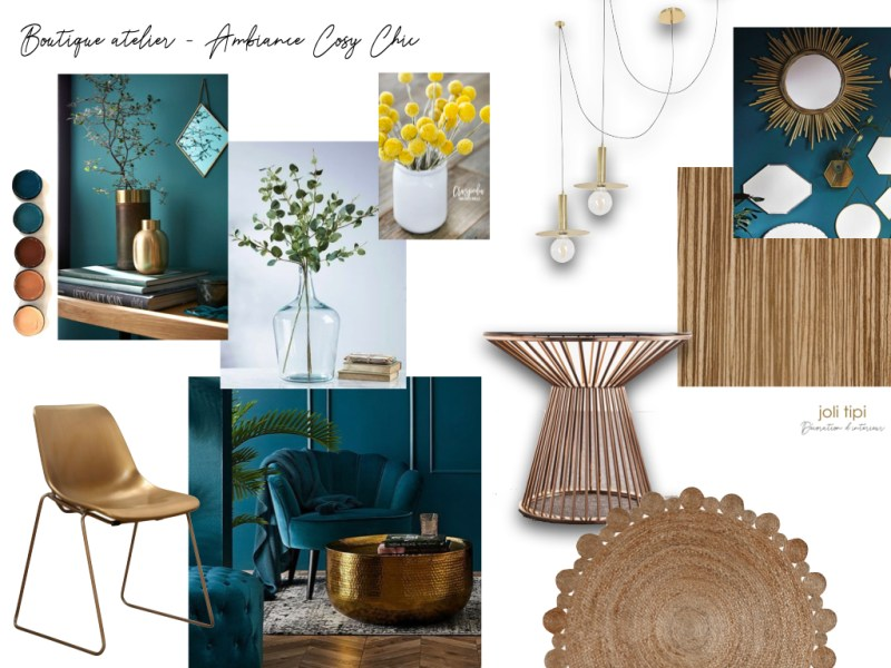 moodboard ambiance boutique chic
