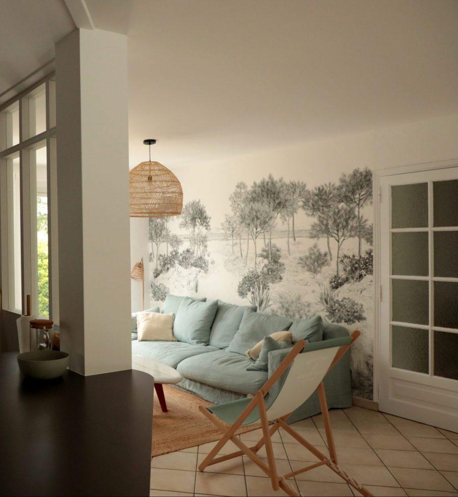 Salon papier peint panoramique