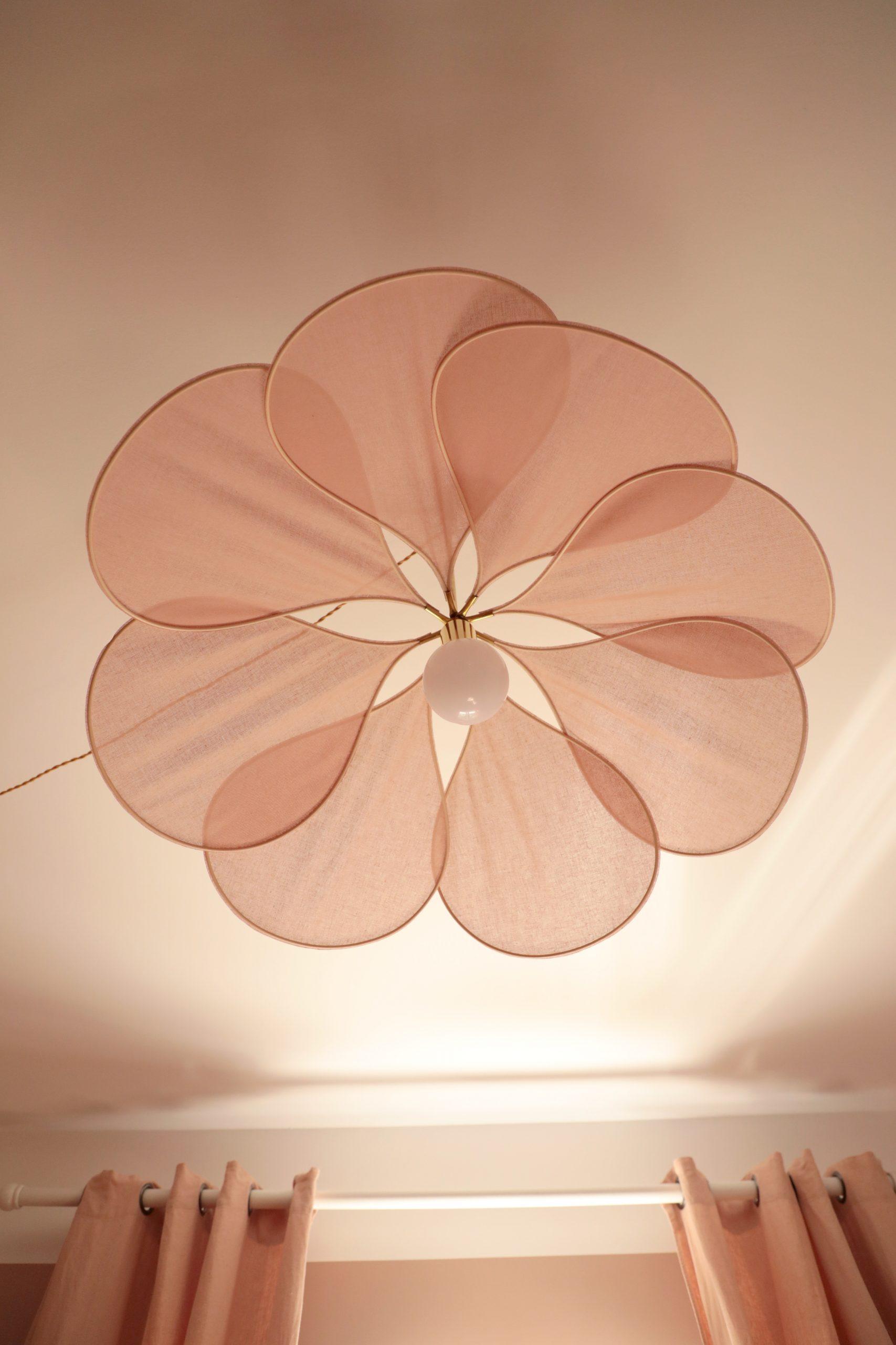 décoration chambre fille suspension pales rose Georges store