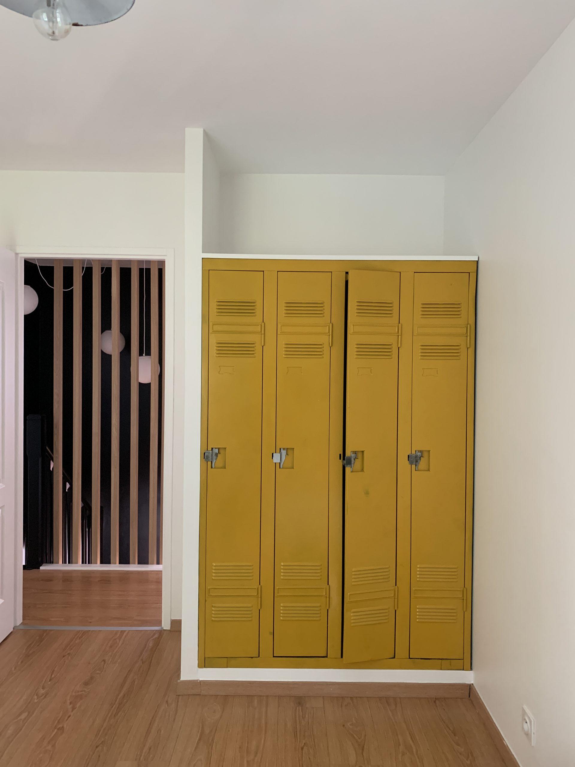 vestiaire industriel rénové placard chambre
