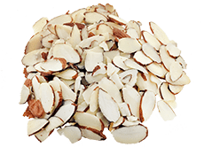 Almonds sliced raw
