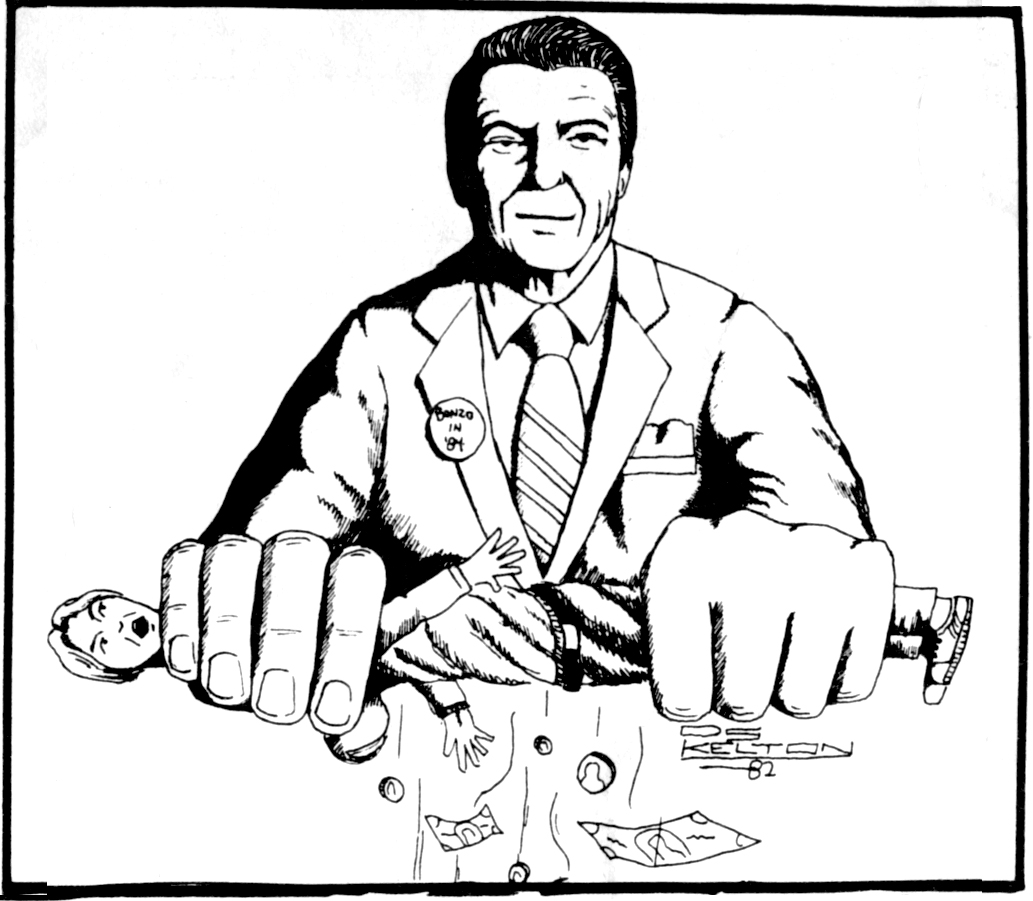 Ronald Reagan Cartoon