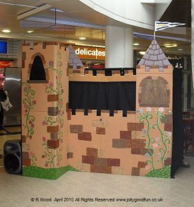 This castle is the set for our latest puppet show