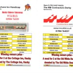 Race Night Race Card Example
