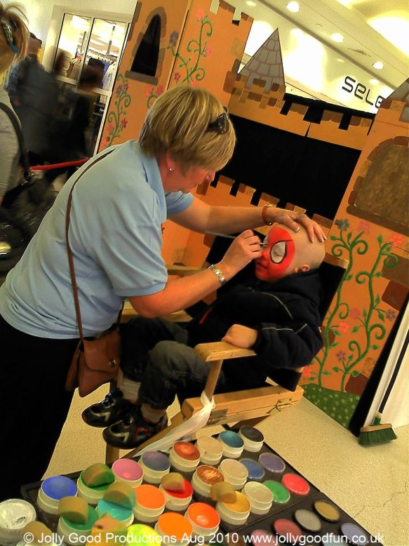 Face Painting at Northfields Shopping Centre
