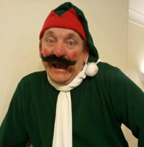 Alf The Elf, a Christmas Character ( stilt walker ) by Jolly Good Productions