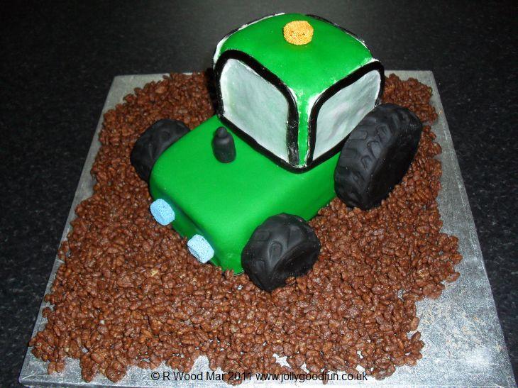 Strange Birthday Cake Tractor Jolly Good Productions Blog Personalised Birthday Cards Beptaeletsinfo