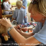 Concentration during face painting