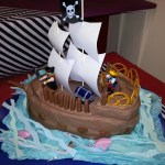 Pirate Themed Birthday Cake