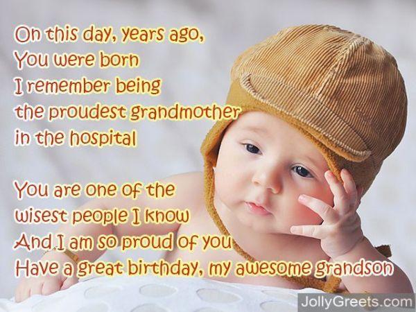 Birthday poems for grandson