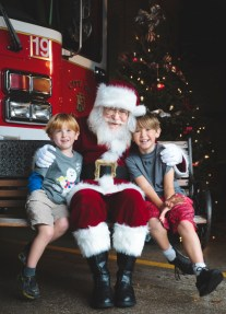 Two Brothers with Santa - Public Appearances - Fire Station #19