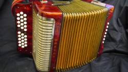 Hohner Trichord III with red straps