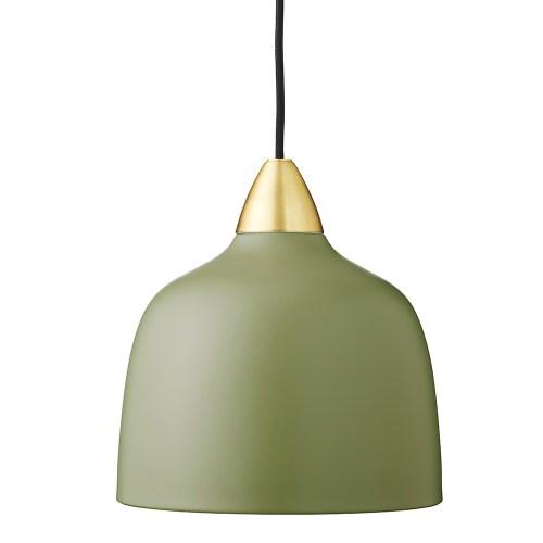 Suspension en métal vert olive mat