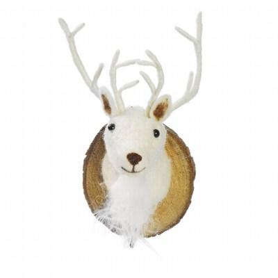 trophée crochet renne blanc