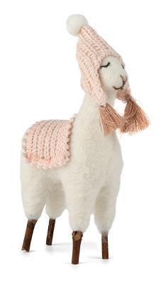 lama en laine et bois