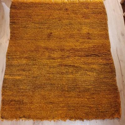 tapis berbère en laine camaïeu orange