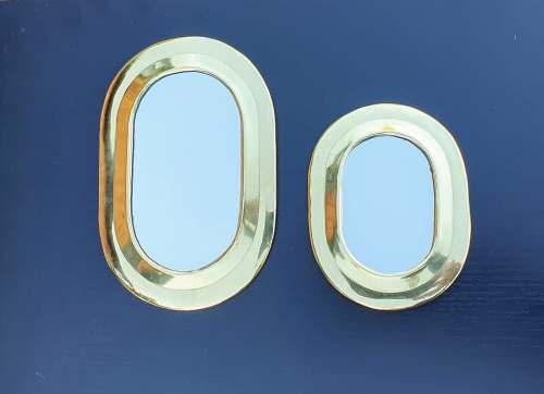 miroirs en laiton forme ovale