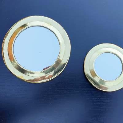 miroirs ronds en laiton doré