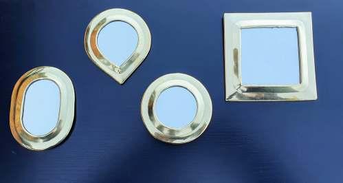 miroirs en laiton doré