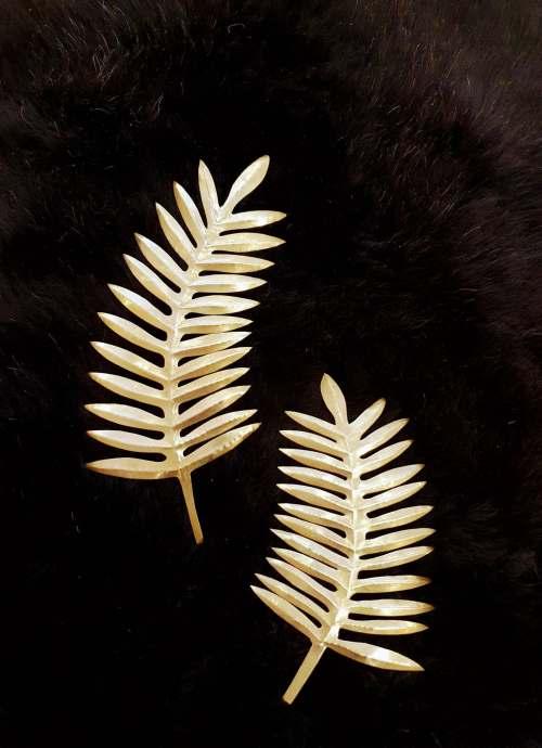 palme d'or laiton doré