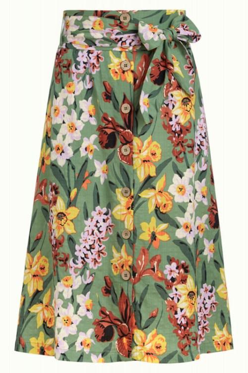 jupe motifs fleuris