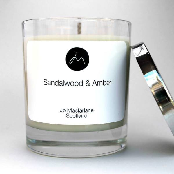 Sandalwood Luxury Candle by Jo Macfarlane