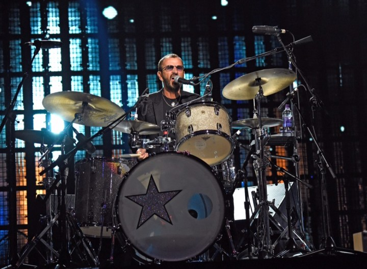 CLEVELAND, OH - APRIL 18:  Ringo Starr performs onstage during the 30th Annual Rock And Roll Hall Of Fame Induction Ceremony at Public Hall on April 18, 2015 in Cleveland, Ohio.  (Photo by Kevin Mazur/WireImage for Rock and Roll Hall of Fame)