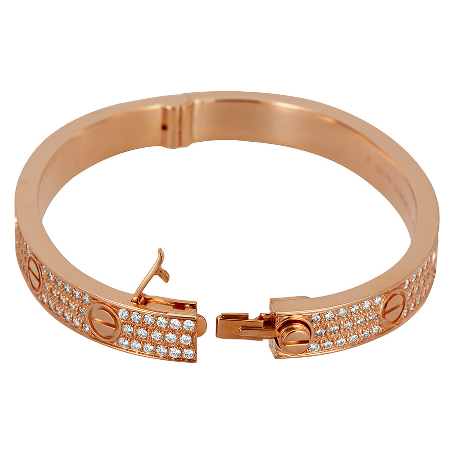 Cartier LOVE 18K Pink GOld Diamond Pave Bracelet N6036916   Ladies     Cartier LOVE 18K Pink GOld Diamond Pave Bracelet N6036916