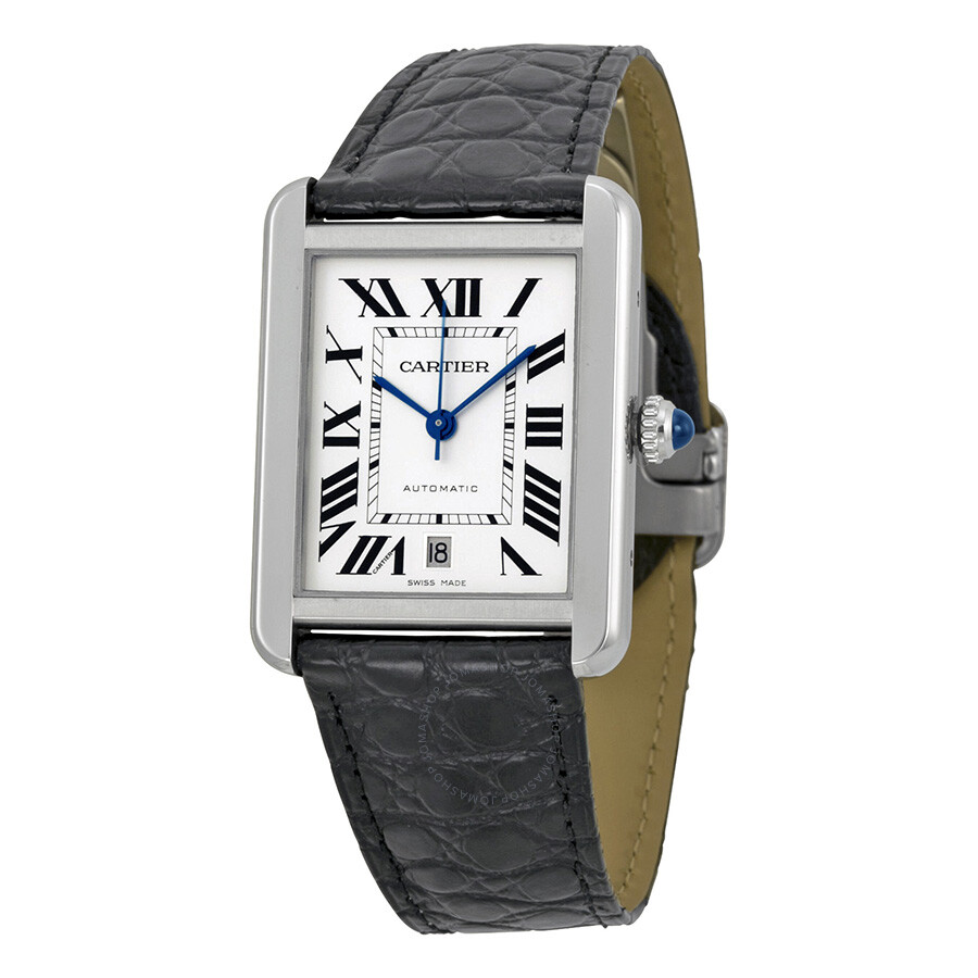 Cartier Tank Solo XL Automatic Silver Dial Men s Watch W5200027