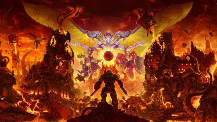 Mode Senjata Di Tengah Skrin Dalam Doom Eternal Untuk Gamer Olskool