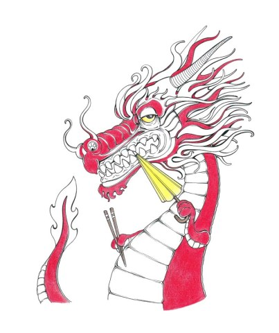China Drache Hongkong