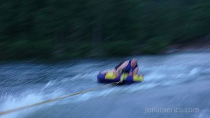 I also did some tubing over the weekend. I'm a very blurry person on the tube.