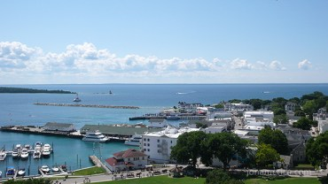 The Mackinac Island docks.