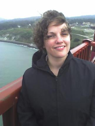 Leah on the Golden Gate Bridge