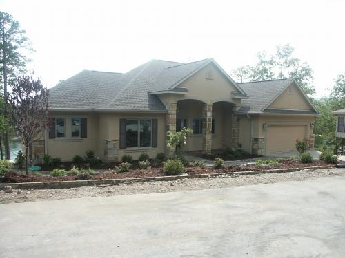 The front of the house after construction