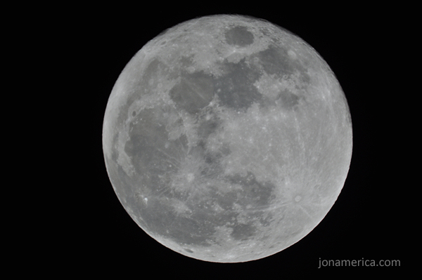 1/100 looks to be a good exposure time for a full moon. - ISO: 200, EXP: 1/100, f/?, Focal Length: 1250mm